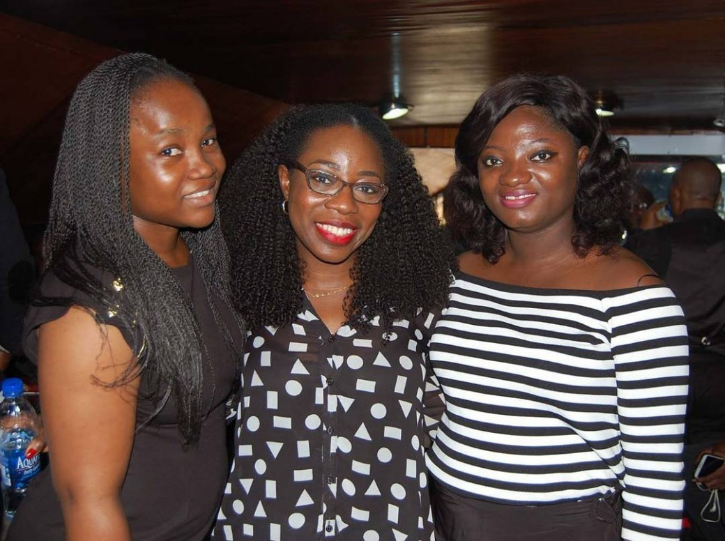Anita Aiyudu (@anitaaiyudu), Lateefah Adesanya (@that1960chick) and Tosin Ajibade (@olorisupergal) at the Service of Songs for #PR. #PrisDead